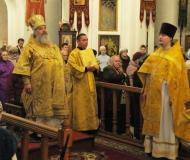 Архиерейское богослужение в Неделю 20-ю по Пятидесятнице и день памяти отцов VII Вселенского собора
