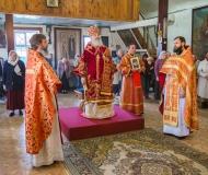 Божественная литургия в Светлый понедельник в Христорождественском соборе Павлодара