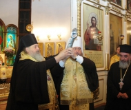 Мощи святителя Спиридона Тримифунтского принесены в Павлодарскую епархию