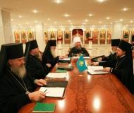 Первое заседание Синода Митрополичьего Округа Русской Православной Церкви в Республике Казахстан