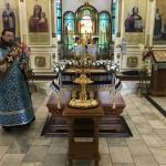 В Благовещенском кафедральном соборе Павлодара совершено всенощное бдение с чином Погребения Божией Матери